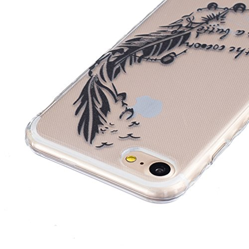 Sunroyal Hülle für iphone 7 (4.7 inches) Silicone Case Cover, Scratch-resistant Ultra Slim TPU Case Cover Soft Protective with Pattern Design Transparent Soft silicone Cover Pattern 04