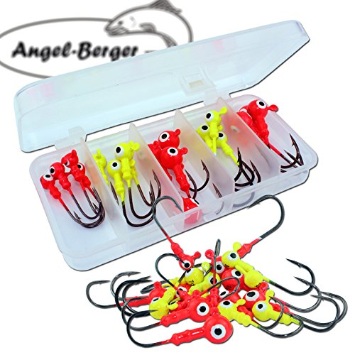 Angel Berger Jighaken Sortiment in Box Jigkopf Jig