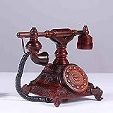 Antike Telefon, Home Wohnzimmer/Mahagoni Ornamenten Sitz Telefon/geschnitzt Exquisite/zarte Linien 28 X 18 X 25 Cm Handy