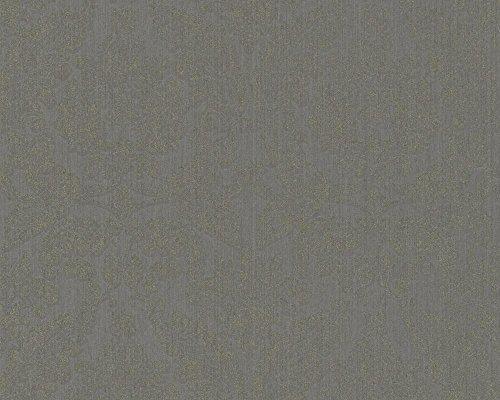 HAUTE COUTURE III EURO-ROLL–MATERIAL: MATERIAL NO TEJIDO (SUPERFICIE DE TELA)–COLOR: GRIS PARDO (CON PURPURINA PARTICULAS)–ARTICULO Nº 7629–0441
