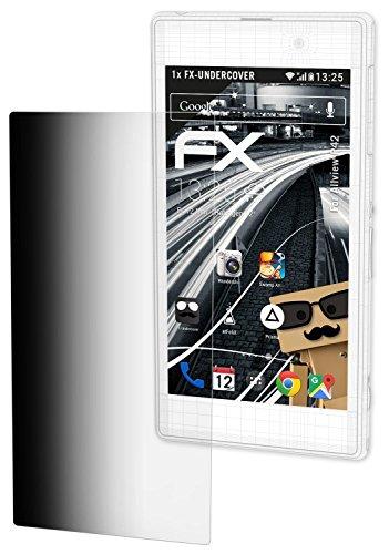 atFolix Blickschutzfilter kompatibel mit Allview P42 Blickschutzfolie, 4-Wege Sichtschutz FX Schutzfolie