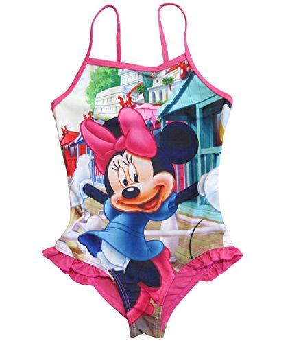 Minnie Mouse Badeanzug Kollektion 2018 Badesachen 92 98 104 110 116 122 128 Schwimmbekleidung Bademode Sommer Fuchsia (Fuchsia, 98-104)