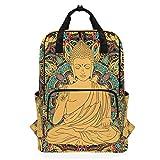 Montoj Mochila de Viaje con Estatua de Buda Boho Mochila Escolar