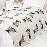 Dreamscene caldo copriletto Soft Puppy Dog. Morbida coperta di pile per divano, multicolore, con cuccioli di cane. 120x 150cm