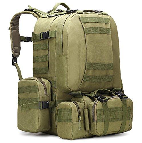 Yy.f Militärtarnung Wandern Taktische Tasche Bergsteigen Rucksack Großes Portfolio Camping Reisetaschen Oxford-Tuch Im Freien Rucksack. Multicolor Black