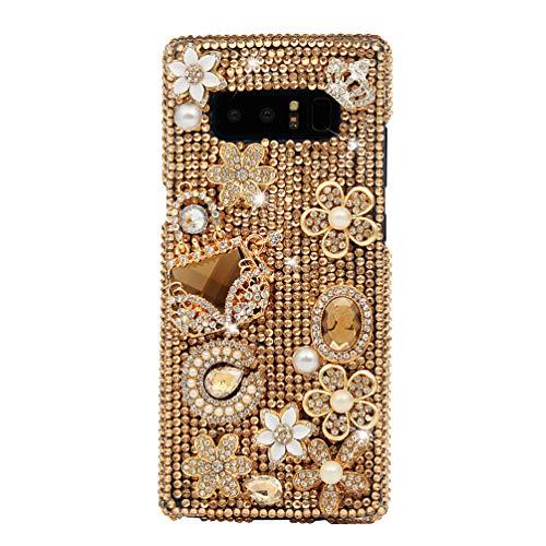 Marmor Parfüm (GOHIGH Kompatible mit Samsung Galaxy Note 8 Hülle Transparent Hart-PC Case mit 3D Design Ultra Slim Fit Crystal Glizer Bling Diamant Rhinestone Handyhülle Schutzhülle Für Samsung Galaxy Note 8-Parfüm)
