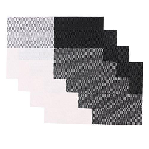 echi tavolo da pranzo tovagliette, eco-friendly PVC tovagliette lavabili resistenti al calore per casa, sala (2 White Piatto Mat)