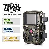 DJLOOKK Wildlife-Jagdkamera 12MP P 1080 p Mini Trail Wildlife-Erkundungskamera im Freien mit PIR-Sensor