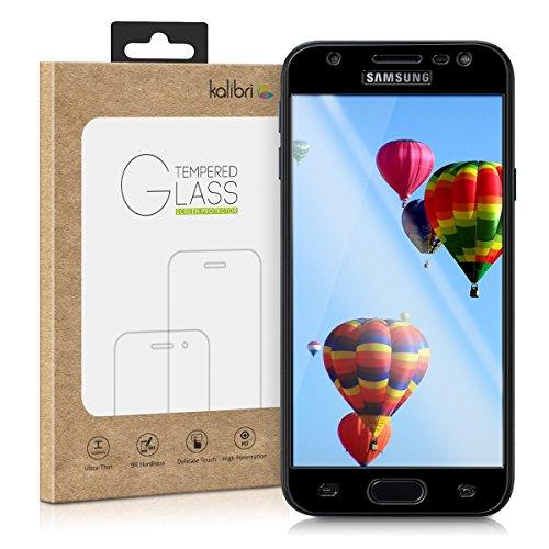 kalibri Samsung Galaxy J3 (2017) DUOS Folie - 3D Glas Handy Schutzfolie für Samsung Galaxy J3 (2017) DUOS - Auch für gewölbtes Display