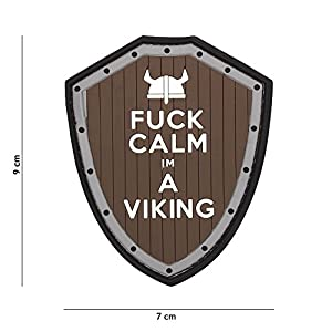 Patch 3D PVC Fuck Calm I m a Viking Marron & Gris / Cosplay / Airsoft / Camouflage