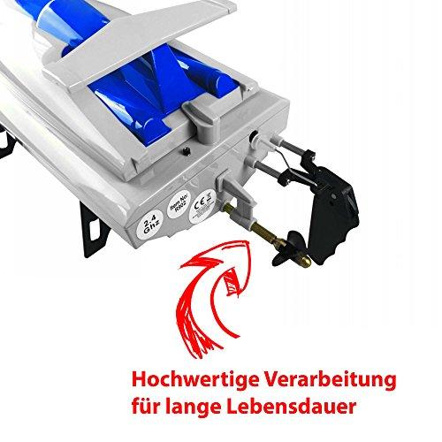 High-Speed Rennboot 46 cm, bis 30 km/h, mit Rollenfunktion, 2.4 GHz 4-Kanal, Li-Poly-Akku 1500 mAh,Farblich sortiert -