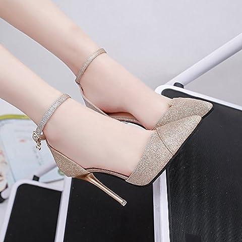 XY&GK Damen Sandalen Extra's High Heels Damen Schuhe feine Ferse Hochzeit Schuhe Nacht Clubs Frauen Schuhe 39