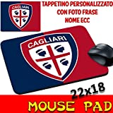 MyCust Tappetino Mouse Pad Personalizzato Squadre Calcio Cagliari Rossoblu 4 Mori Stemma Logo Foto