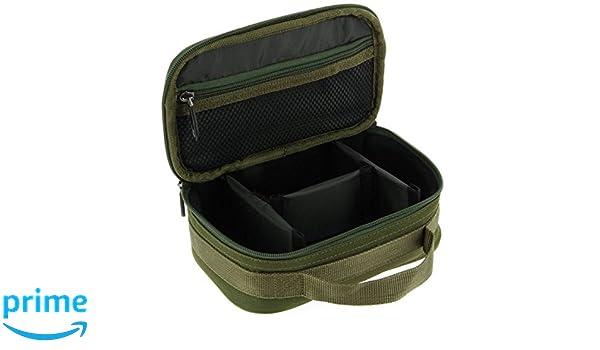 NGT Unisex Fla Leadbag 3-wege Starr Anglers Kabel T/üte 22 x 14 x 8cm 207 Gr/ün