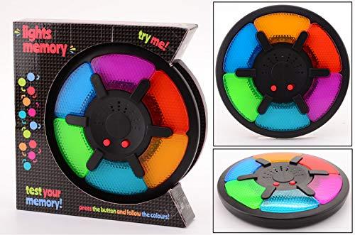 Smart Planet Memory-Spiel XL mit Licht & Geräusch für Kinder zum Spielen und Konzentration fördern - je Besser desto schwieriger - die Herausforderung (Spiel Licht)