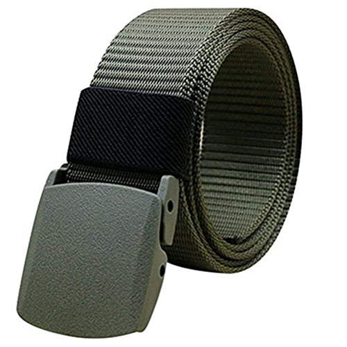 kingnew Nylon Canvas Web atmungsaktiv, Military Gürtel Tactical Herren Taille mit Kunststoff-Schnalle - Mit Schnalle Herren-web-gürtel Kunststoff
