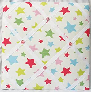 Notice board, made from Cath Kidston multi coloured stars - small size