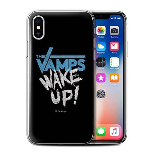 Officiel The Vamps Coque / Etui Gel TPU pour Apple iPhone X/10 / Réveillez-Vous! Design / The Vamps Graffiti Logo Groupe Collection Réveillez-Vous!