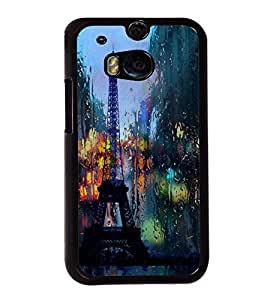 Eiffel Tower 2D Hard Polycarbonate Designer Back Case Cover for HTC One M8 :: HTC M8 :: HTC One M8 Eye :: HTC One M8 Dual Sim :: HTC One M8s