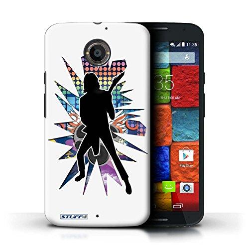 Kobalt® Imprimé Etui / Coque pour Motorola Moto X (2014) / Atteindre Blanc conception / Série Rock Star Pose Solo Blanc