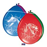 6 Globos de colores variados de Dinosaurio T-Rex Decoracion Cumpl