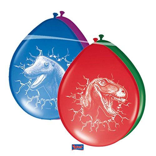 6 Globos de colores variados de Dinosaurio T-Rex Decoracion Cumpleaños Fiesta Niños
