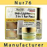 Nur76 Advanced 3 in 1 Skin Lightening + FREE Nur76 Skin Lightening Soap (150g) - 100% Money Back Guarantee!