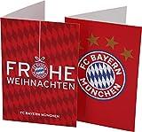 FC Bayern Karten-Set Frohe Weihnachten/Logo