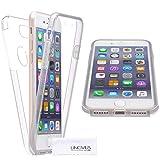 LINCIVIUS  Coque Integrale Compatible avec Apple iPhone 7 Plus, Coque de Protection 2 en 1 Bumper Transparent Silicone Avant Et Arrière Contour Bumper Rigide pour Apple iPhone 7 Plus, Transparent