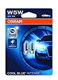 Osram COOL BLUE INTENSE W5W, halogen, license plate position light, xenon effect for white light, 2825HCBI-02B, 12 V passenger car, double blister (2 units)