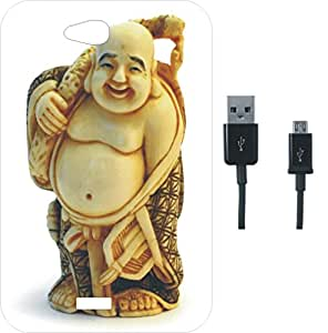 BKDT Marketing Beautifully Printed Back Cover for Micromax Canvas Play Q355 With Charging Cable