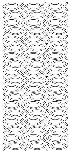 """Konturensticker """"Fische """"silber,bogen 10 x 23 cm"""
