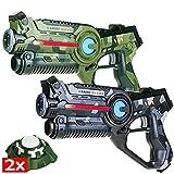 Light Battle Lasertag Set: 2X Active Lasertag Pistole (1x camo grün + 1x camo grau) + 2X Active Ziele | LBAP22256