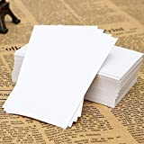 TOTAL HOME:100PCS DIY White Blank Trading Business Wood Cards Label Tag Name Card A4 SIZE