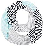 s.Oliver Damen Schal 38899913633, Grau (Grey/Black Stripes 91G1), One Size(Herstellergröße:1)
