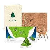 24 x originelle Weihnachtskarten im Set in 3 Motiven - (Rentier zum Basteln, Tannenbaum zum Pflanzen, Weihnachtsbaum zum Ausschneiden)