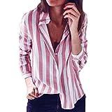 ESAILQ Damen Tunika Sommer Tops Damen Kurzarm Basic Uni Leichtes Freizeit Rundhals mit Knopf Plissee T-Shirt Oberteile(S,Rosa)