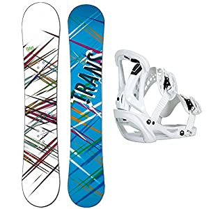 Unbekannt Damen Snowboard Set Trans Style White 148 cm + FTWO Sonic Bindung GR. M