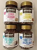 Beanies 4 Jar Set (creamy caramel, coconut delight, nutty hazelnut, cookie dough)