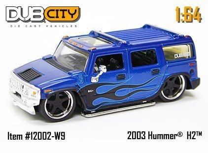 2004-jada-dub-city-164-scale-2003-hummer-h2-blue-096-by-jada-toys