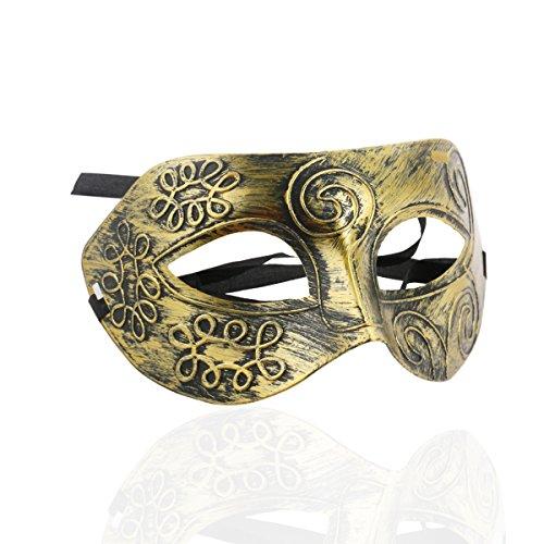 Für Maske Mann Den (ROSENICE Masquerade Masken Kühlen Erwachsenen Männern Griechische Römische Kämpfer Gesichtsmaske für Ball Maskenball Fancy)