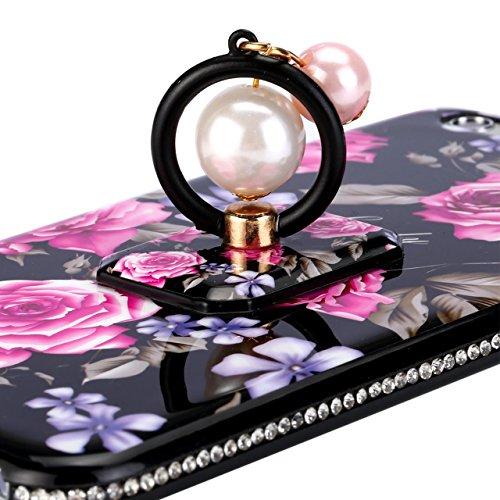 iPhone 7 Plus Coque iPhone 8 Plus Case, Sunroyal [Rotation Intégrée Bague de Serrage Support] Case Housse Etui Hybrid TPU + PC Ultra Slim Coque avec Rotation Bague Shock-Absorption Bumper et Anti-Scra Motif 01