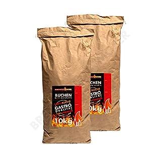 Holzkohle Buche für BBQ, Grillkohle Extra groß, 20kg, Buchenholzkohle, Gastro Qualität, Nicht für Lotus Grill Geeignet - Stücke Sind zu groß, Ideal für Gastronomie, 2X 10kg Sack, Versandkostenfrei