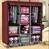 #7: A3 RBS FOLDING WARDROBE NON WOVEN FEBRIC CLOTH WROUGHT IRON ALMIRAH FOR DAILY USE