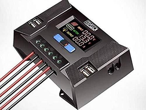 Signstek Solar Panel Regler Laderegler - 30A Ladegerät mit 4 USB und HD Display Controller für Photovoltaikmodule Batterien Lampen laden (CP-30A)