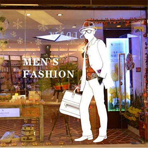 2deda74fea Eeemmm Clothing Store Wall Stickers Men'S Fashion Lettering Wall Decals  Clothing Store Handbags Shop Wall Stickers