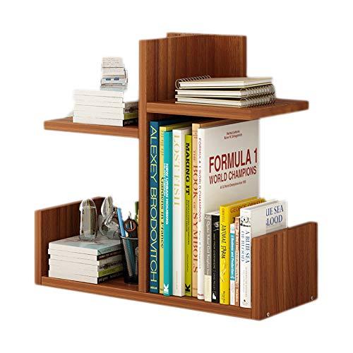 SqsYqz Bücherregal Einfache Desktop-Regal Kombination Bücherregal Einfache Moderne Tischregal Student Creative Cabinet,Brown,D -