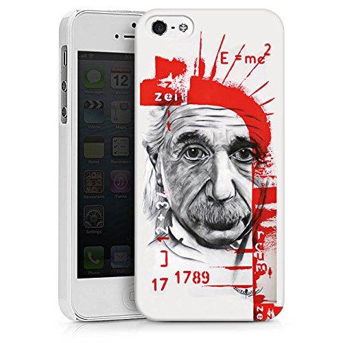 Apple iPhone X Silikon Hülle Case Schutzhülle Albert Einstein Zeichnung Art Hard Case weiß