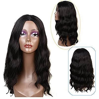 Synthetic Wigs For Black Women Natural Wavy Style Black Color20 inch
