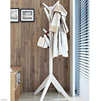 NUANXIN Solid wood floor coat rack vertical bamboo tree display rack hanger living room bedroom corridor entrance Hanger 170 * 63CM